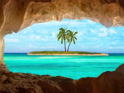 indian cave  turks  caicos island hd wallpaper