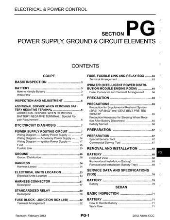 Nissan Altima Power Supply Ground Circuit