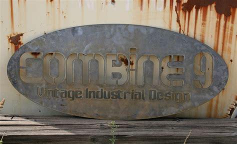 custom industrial sign combine  industrial furniture