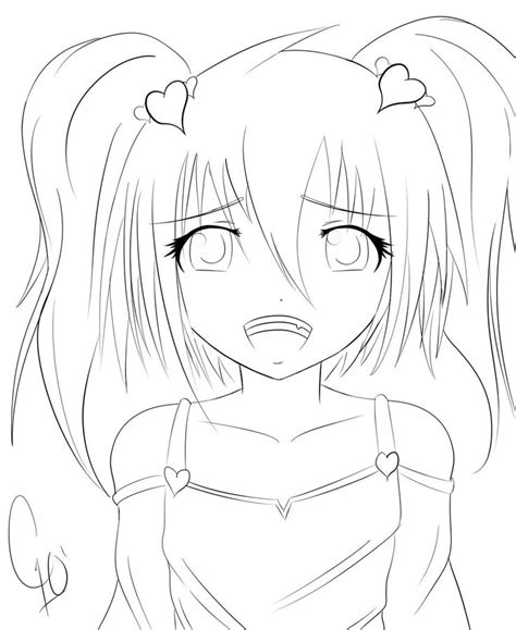 Search through more than 50000 coloring pages. Anime School Girl Coloring Pages | anime girl coloring 4 ...