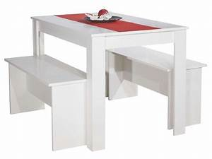 Ensemble Table Et Chaise Conforama : ensemble 2 bancs table paros coloris blanc vente de ensemble table et chaise conforama ~ Dailycaller-alerts.com Idées de Décoration