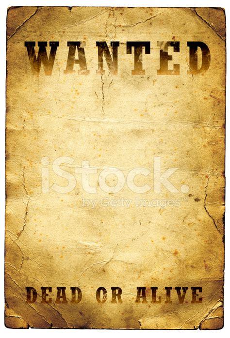 wanted dead  alive poster wilde westen stockfotos