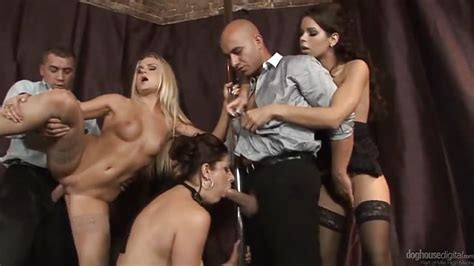 Group Sex At A Strip Club Doghouse Digital