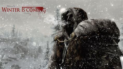 skyrim mods br winter  coming mod capas  mantos