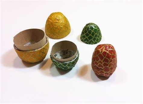 diy paper mache eggs guide patterns