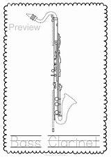 Instrument Woodwind Pages Trace Coloring Worksheets Musical Bassoon Instruments Oboe Teacherspayteachers Keyboard sketch template