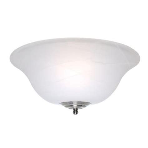 casablanca glass bowl ceiling fan light cover with white