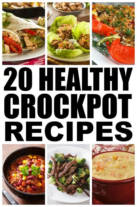 20 healthy crockpot recipes