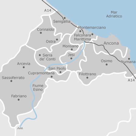mappa  ancona provincia comuni  annunci  case