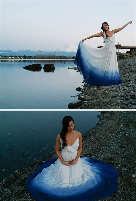 Dyed Wedding Dresses Bring Color To That Special Day