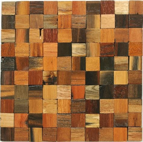 Holz Mosaik Fliesen by Wood Mosaic Tile Rustic Wood Wall Tiles Nwmt001