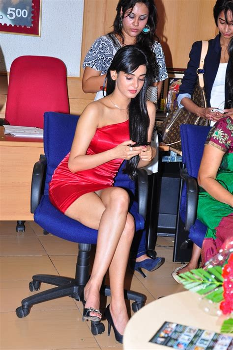 High Quality Bollywood Celebrity Pictures Sonal Chauhan Sexy In Red Short Dress