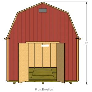 12x16 Gambrel Storage Shed Plans Free by 10 X 12 Gambrel Shed Plans Handyman Magazine Marskal