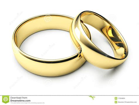 gold wedding band two gold wedding rings stock photo image of ring white