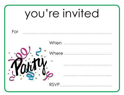 Party You're Invited Cards Youre invited Invitations