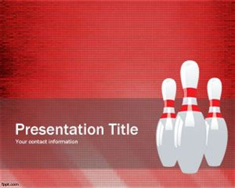 bowling pins powerpoint template