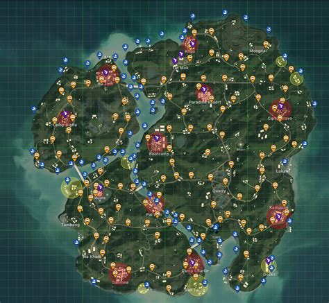 pubg loot map playerunknown s battlegrounds pubg 4x4 map sanhok