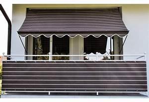 Angerer freizeitmobel klemmmarkise braun weiss gestreift for Markise balkon mit tapete türkis braun gestreift