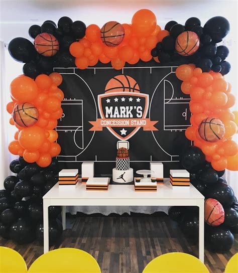 Basketball room decor basketball wall boys basketball bedroom basketball decorations basketball themed rooms basketball cookies basketball tattoos basketball videos football wall. Basketball Theme Full Arch 🏀🏀🏀 #balloondecoration #partydecorations #beautiful #balloongarland # ...