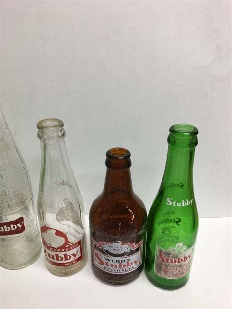 stubby soda pop lot 5 stubby soda pop bottles