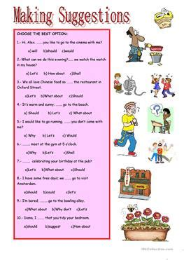 17 Free Esl Making Suggestions Worksheets