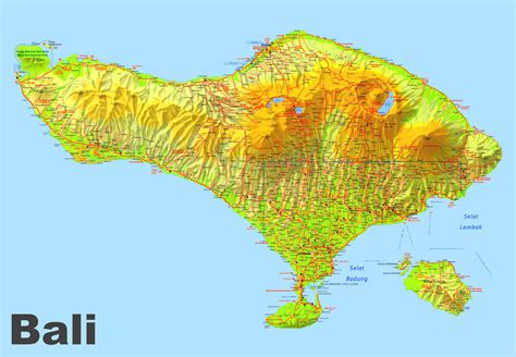 large detailed map  bali