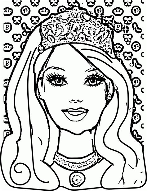 princess face coloring pages coloring home