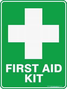 FIRST AID KIT WITH CROSS   Discount Safety Signs Australia
