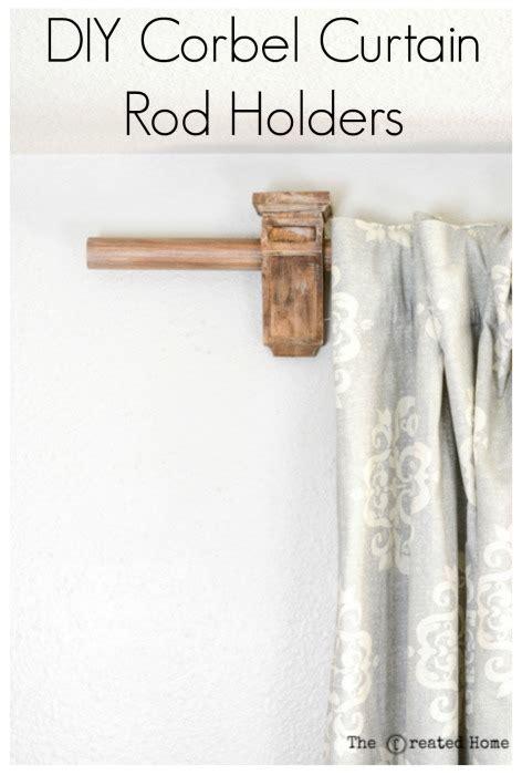 Drapery Corbels by Diy Corbel Curtain Rod Holders Pretty Handy