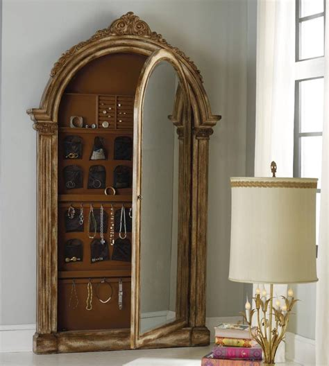 Floor Jewelry Armoire With Mirror by Vera Floor Mirror W Jewelry Armoire Storage 63850056