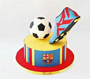 Barcelona Soccer Cake - CakeCentral com
