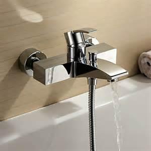 bathtub faucet single handle chrome finish single handle wall mount bathtub faucet
