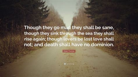 dylan thomas quote    mad    sane