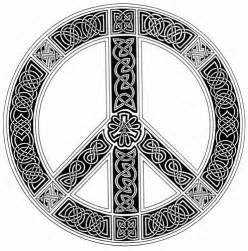 Celtic Knot Peace Sign Tattoo