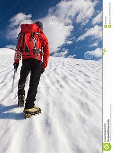Mountaineer Alone Glacier Stock Photography - Image: 20295592