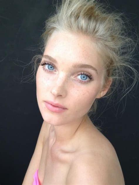 Elsa Hosk Makeup Eyes Hairdo Hairstyle Freshfaced Classic Natural Makeup Inspiration