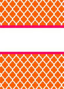 Preppy Binder Cover Templates