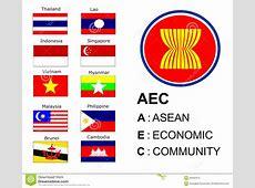 Aec Asean Economic Community Editorial Stock Image Image