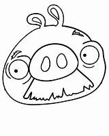 Coloring Pig Angry Birds Mustache Pages Face Pigs Bird Moustache Drawing Sheets Printable Getcolorings Popular Getdrawings Getcoloringpages sketch template