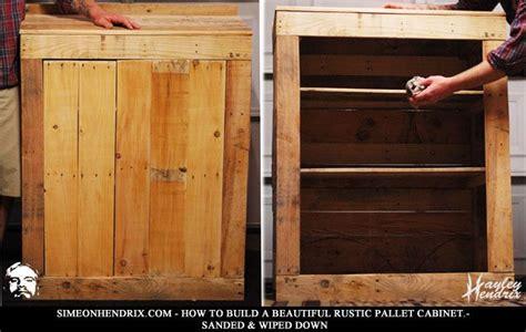 build  beautiful rustic pallet cabinet