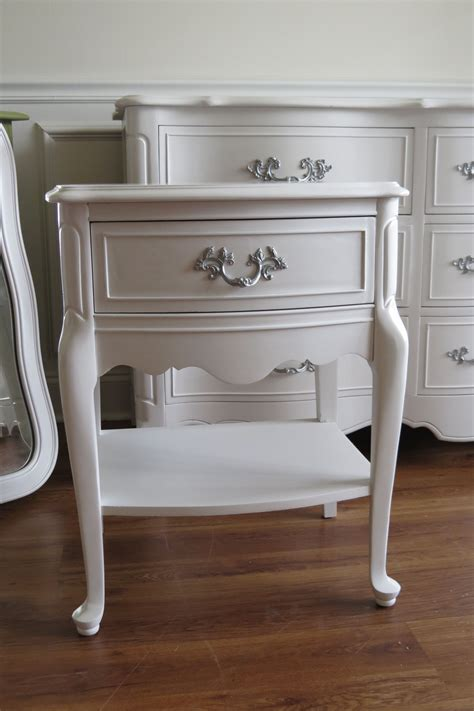White Provincial Nightstand by White Provincial Nightstand The Silver Paint