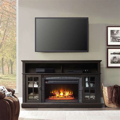 Whalen Media Fireplace Console For Tvs Up To 70 Espresso