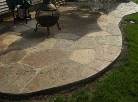 patio textured and carved concrete individully painted to