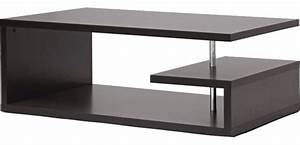 Lindy Dark Brown Modern Coffee Table - Contemporary