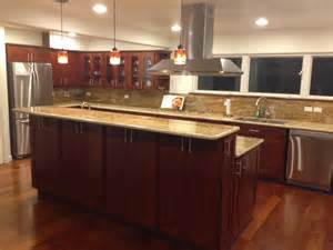 cherry kitchen cabinets with granite pictures best for