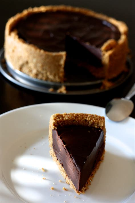 tarte au chocolat facile sans cuisson fond biscuit 233