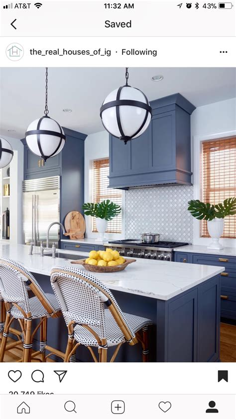 15+ Appealing Kitchen Remodel Blue Cabinets