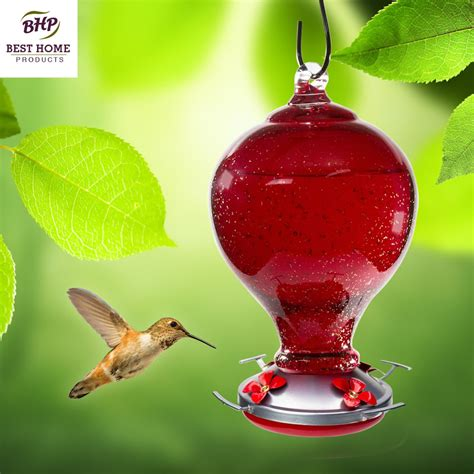 best hummingbird feeder blown glass hummingbird feeder with perch cherry