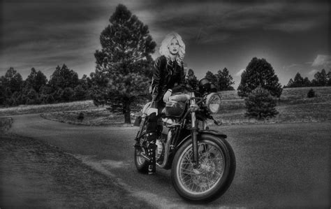 Cafe Racer Girl By Coloradogreenchile On Deviantart