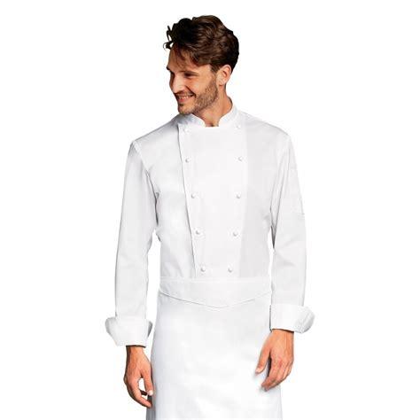 poche cuisine veste de cuisine grand chef blanche avec poche poitrine